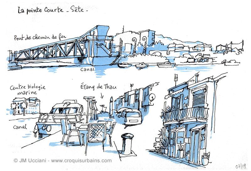 Sète, la Pointe Courte