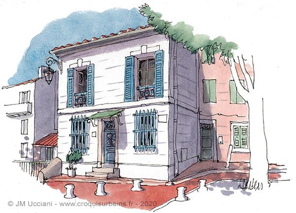 Maison place des Moulins à Marseille
