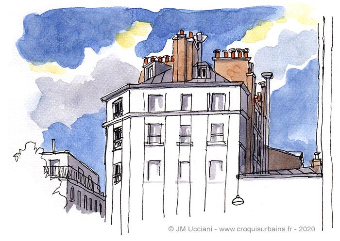 Ciels et toits de Paris