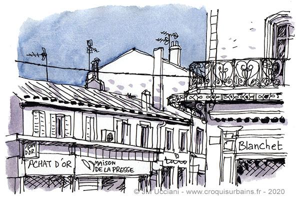 Illustrations de toits et hauteurs dans différentes villes.