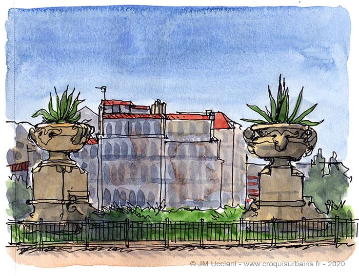 Le Palais Longchamp à Marseille