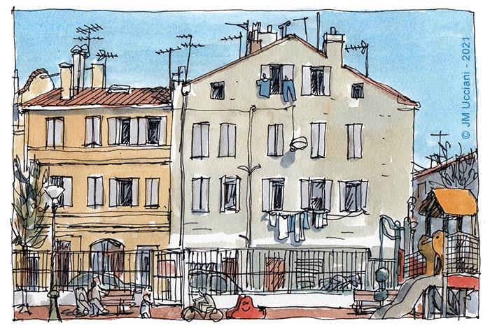 Quartier la Blancarde à Marseille