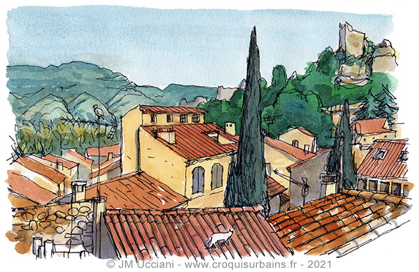 Maisons et toits d'Orgon