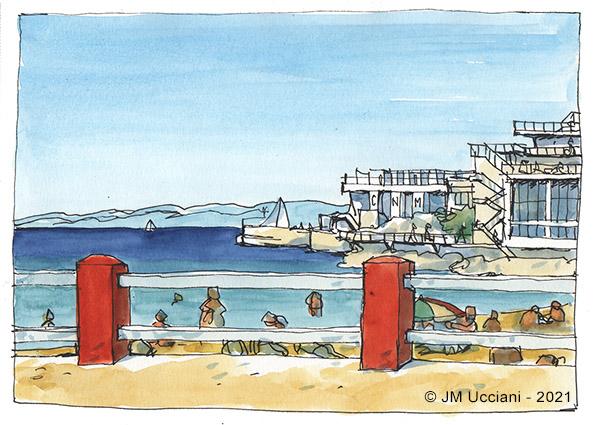 La plage des Catalans à Marseille