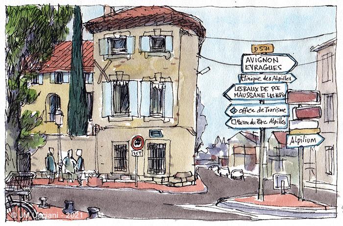 Coin de rue à Saint-Rémy de Provence