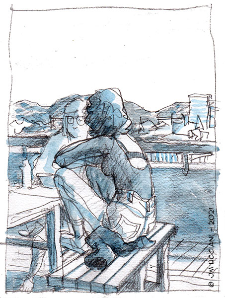 filles en terrasses