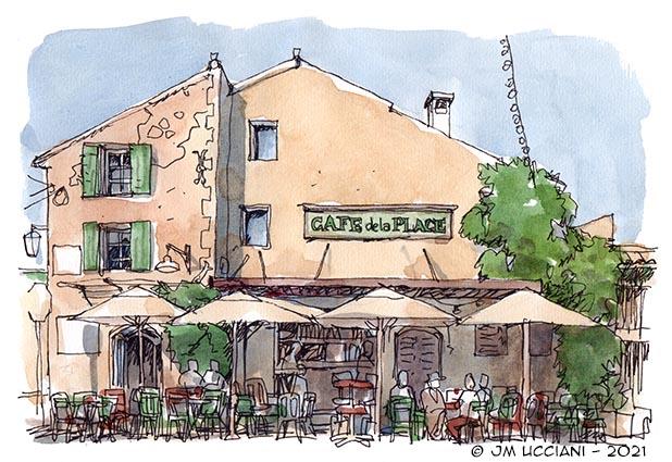 Le Café de la Place à Eygalières