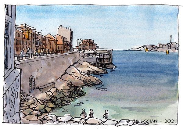 Bord de mer à Marseille