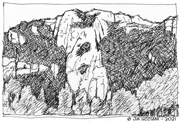 Les falaises calcaires d'Orgon