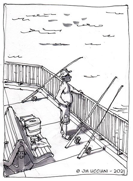 Pêcheur marseillais sur la Corniche Kennedy