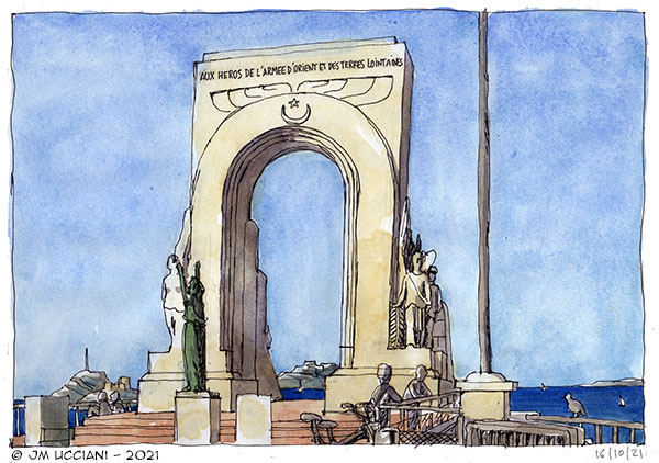 Le Monument de l'armée d'Orient à Marseille