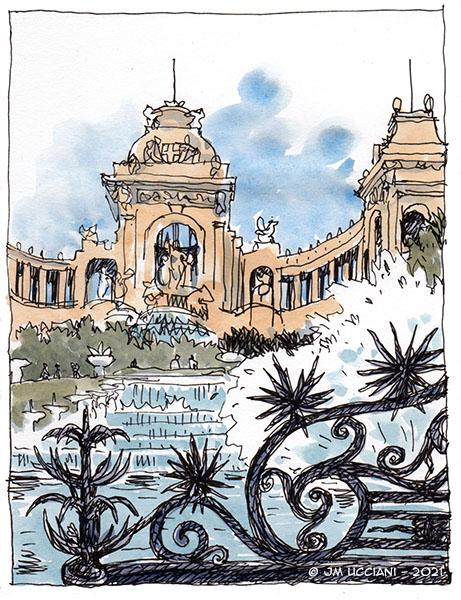 L'eau du Palais Longchamp à Marseille