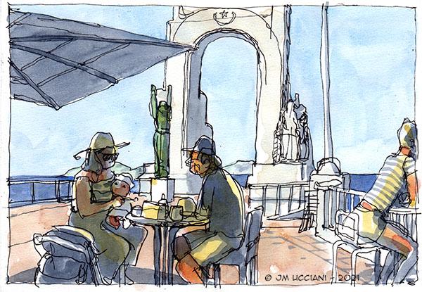 En terrasse sur la Corniche à Marseille
