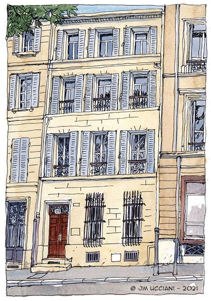 Immeuble trois fenêtres marseillais